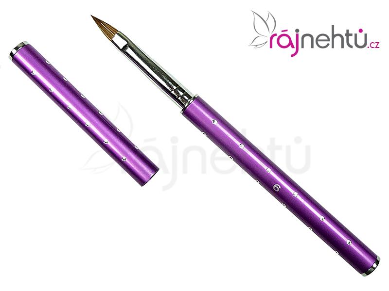 Štetec na nechty č. 6 - glitter, fialový
