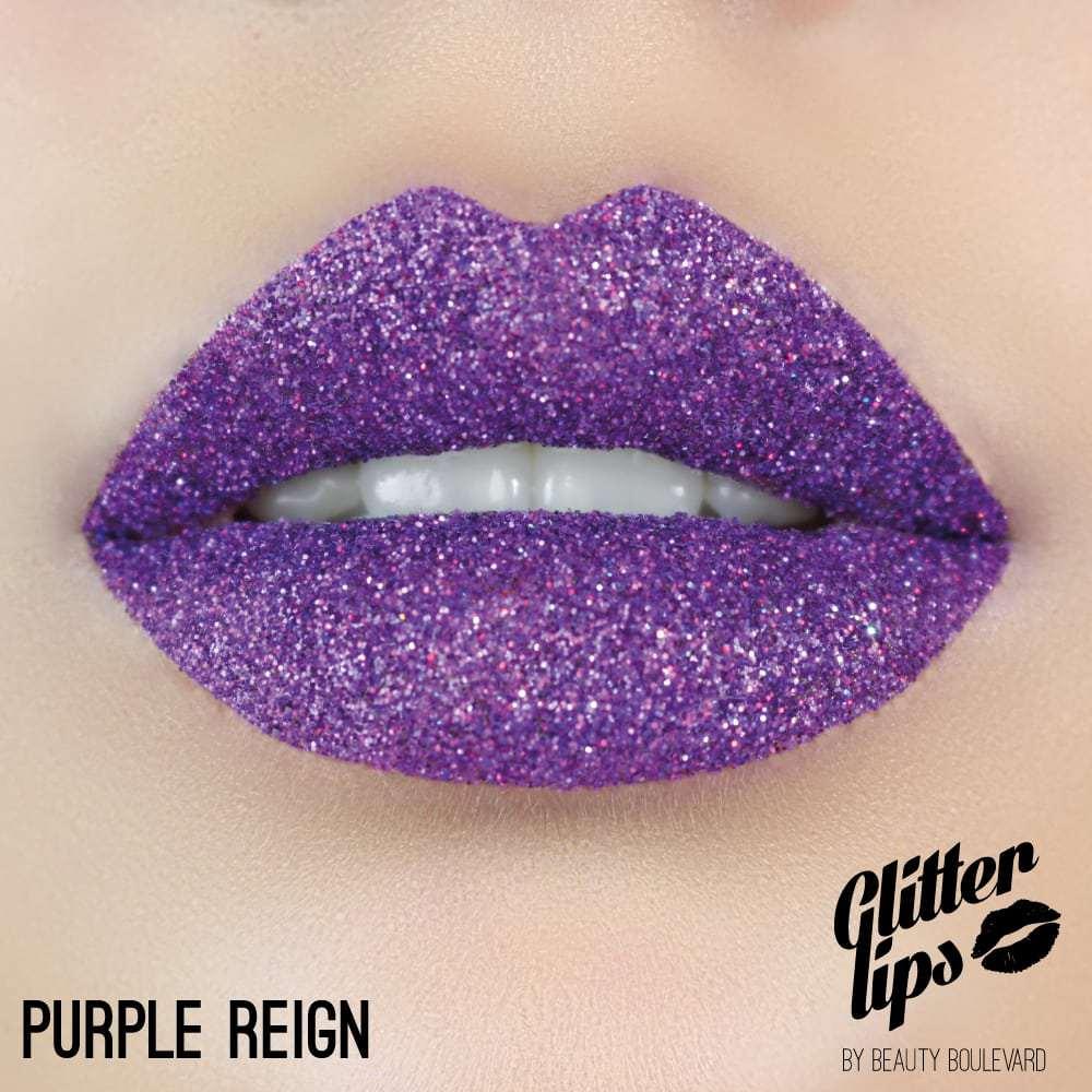 Beauty Boulevard Glitter Lips, vodoodolné trblietky na pery - Purple Reign 3,5ml