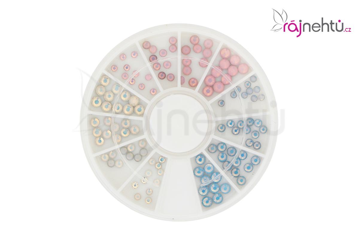 Kamienky v karuseli - perleť mix ružová, biela, modrá