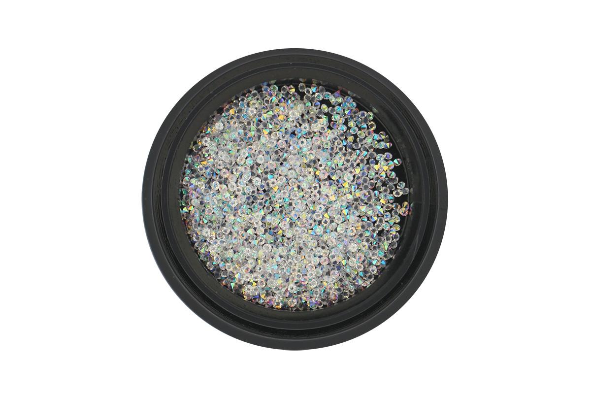 Zirkóny na nechty Pixie 1mm - AB Crystal