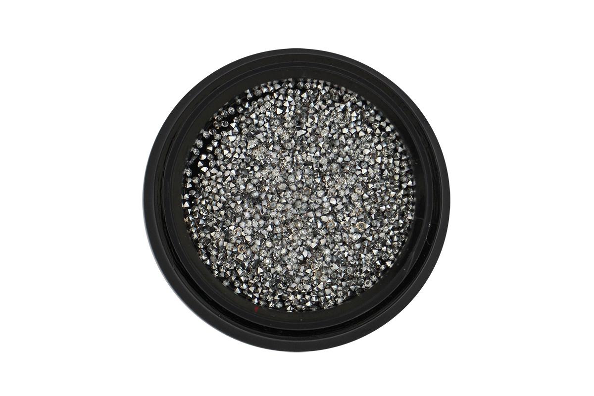Zirkóny na nechty Pixie 1mm - Silver