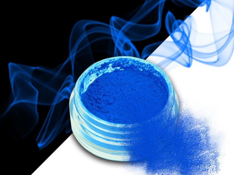 Ráj nehtů Smoke pigment - Neon Blue