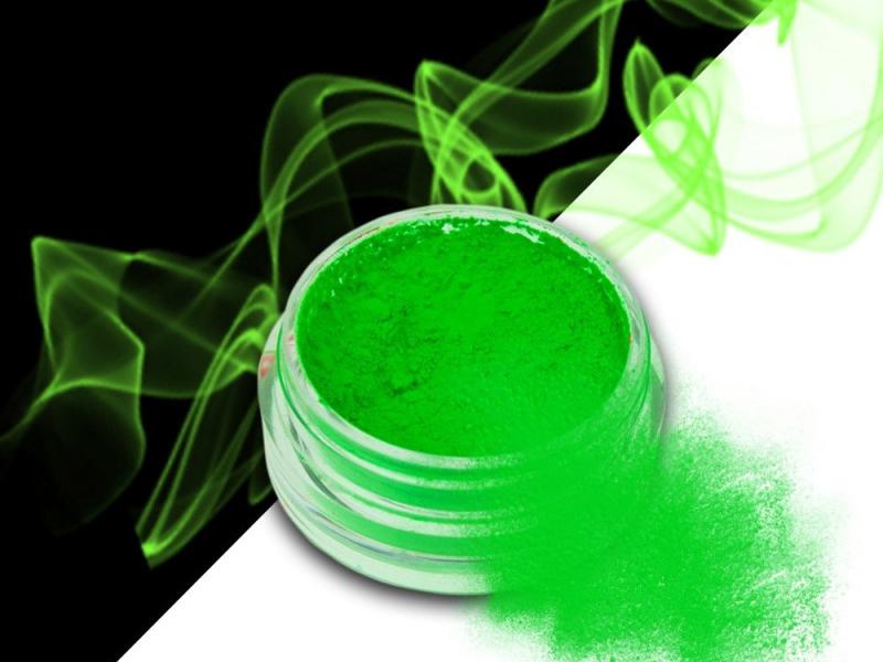 Ráj nehtů Smoke pigment - Neon Green