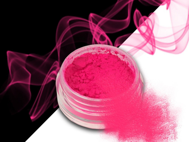 Ráj nehtů Smoke pigment - Neon Pink