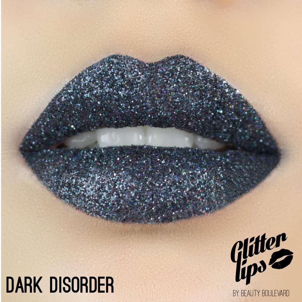 Beauty Boulevard Glitter Lips, vodoodolné trblietky na pery - Dark Disorder 3,5ml