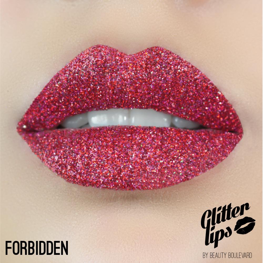 Beauty Boulevard Glitter Lips, vodoodolné trblietky na pery - Forbidden 3,5ml