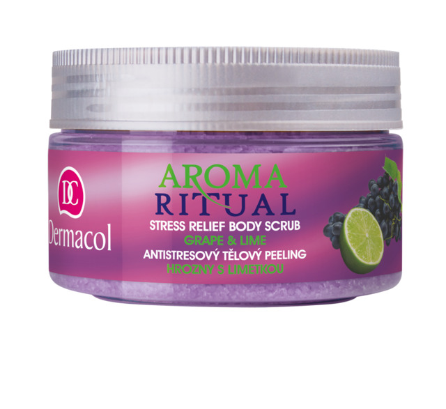 Dermacol - AROMA RITUAL BODY SCRUB - GRAPE AND LIME - Antistresový telový peeling - hrozno s limetkou - 300 g