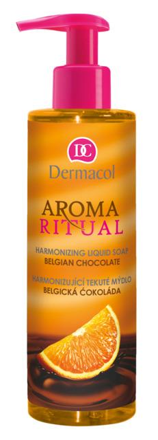 Dermacol - AROMA RITUAL HARMONIZING LIQUID SOAP - BELGIAN CHOCOLATE - Harmonizujúci mydlo na ruky – belgická čokoláda - 250 ml