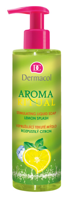 Dermacol - AROMA RITUAL STIMULATING LIQUID SOAP - CITRUS SPLASH - Vzpružujuci mydlo na ruky - roztopašný citrón - 250 ml