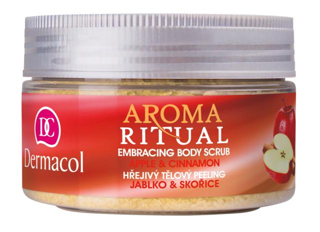Dermacol - Aroma Ritual Embrasing Body Scrub Apple & Cinnamon - Hrejivý telový peeling - jablko so škoricou - 200 g