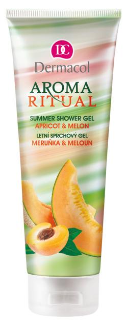 Dermacol - Aroma Ritual Shower gel - apricot and melon - Letný sprchovací gél - marhuľa a melón - 250 ml