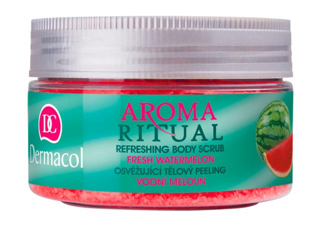 Dermacol - Aroma Ritual body scrub fresh watermelon - Osviežujúci telový peeling – vodový melón  - 200 g