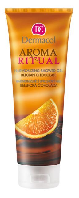 Dermacol - Aroma Ritual - harmonizing shower gel belgian chocolate - Harmonizujúci sprchový gél – belgická čokoláda - 250 ml