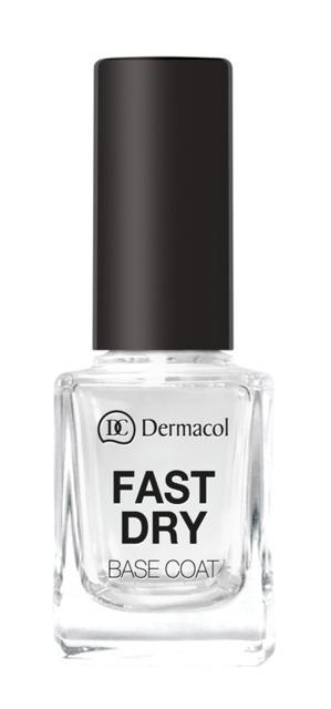 Dermacol - Fast Dry Base Coat - Podlak pre okamžité vyhladenie povrchu nechtu - 11 ml