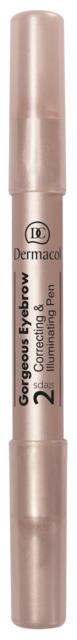 Dermacol - Gorgeous Eyebrow Correcting & Illuminating Pen - Korektor & rozjasňovač pod obočie 2v1 - 10 g