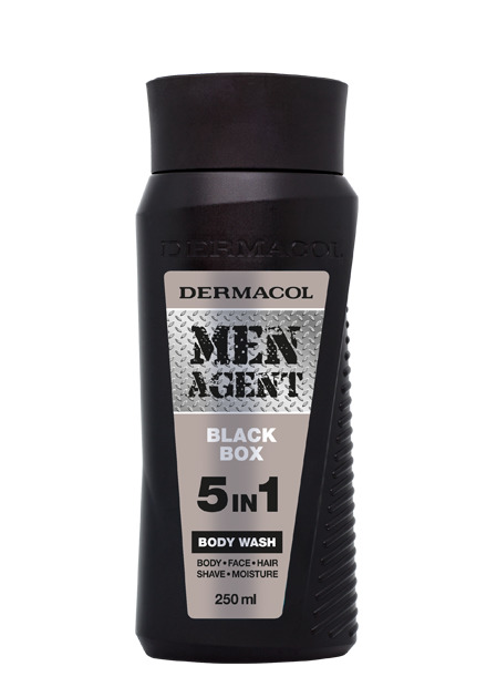 Dermacol - Men Agent Shower Gel Black Box - Sprchovací gél 5v1 Black Box  - 250 ml