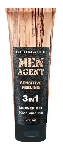 Dermacol - Men Agent Shower Gel Sensitive Feeling - Sprchovací gél 3v1 Sensitive Feeling - 250 ml