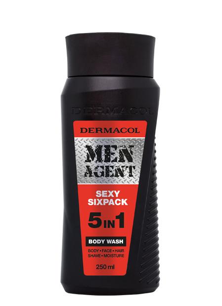 Dermacol - Men Agent Shower Gel Sexy Sixpack - Sprchovací gél 5v1 Sexy Sixpack - 250 ml