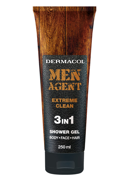 Dermacol - Men Agent Shower gel Extreme Clean - Sprchovací gél 3v1 Extreme Clean - 250 ml
