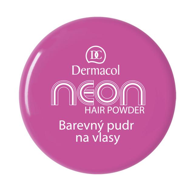 Dermacol - NEON HAIR POWDER NO.4 - VIOLET - Farebné púdre na vlasy - 2