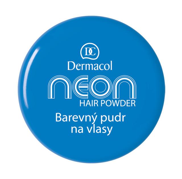 Dermacol - NEON HAIR POWDER NO.5 - BLUE - Farebné púdre na vlasy -