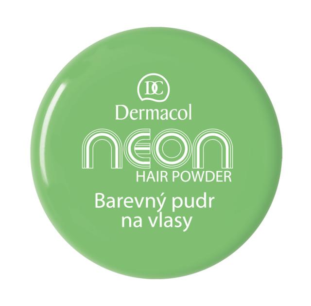 Dermacol - NEON HAIR POWDER NO.6 - GREEN - Farebné púdre na vlasy -