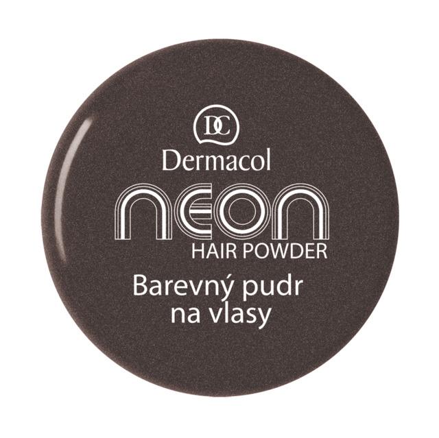 Dermacol - Neon hair powder Neon No. 8 - black with glitters - Farebné púdre na vlasy - 2