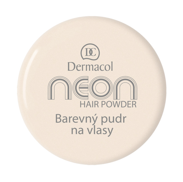 Dermacol - Neon hair powder No. 7 - gold - Farebné púdre na vlasy - 2