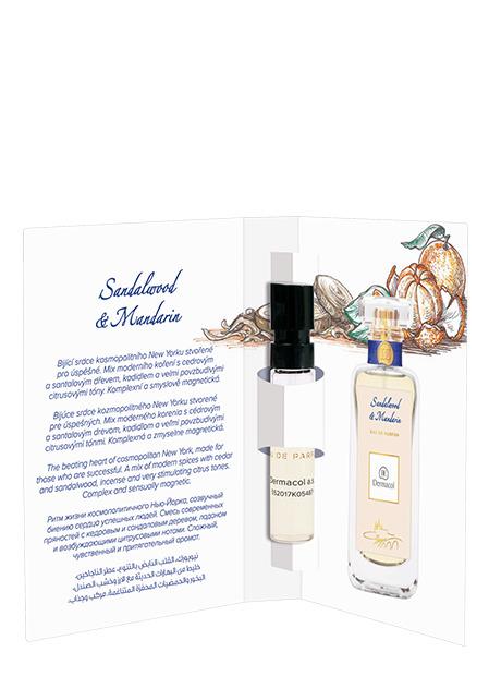 Dermacol - Tester EDP Sandalwood & Mandarin - Tester EDP Sandalwood and Mandarin - rozprašovačov - 2 ml